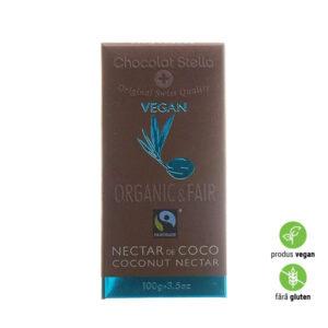 Ciocolată Eco Vegană îndulcită cu Nectar din Cocos, fără Gluten