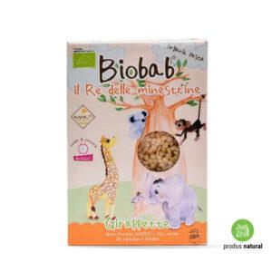 Paste steluțe bio din grâu kamut, orez și morcovi Biobab L'origine