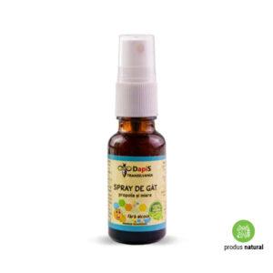 Spray de gât cu propolis și miere