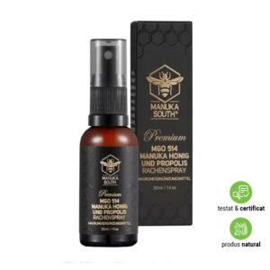 Spray pentru gât cu Propolis și Miere de Manuka Premium UMF®15+ (MGO 514+)