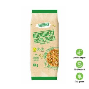 Biscuiți organici cu hrișcă, semințe de dovleac și măr, fără lactoză și gluten