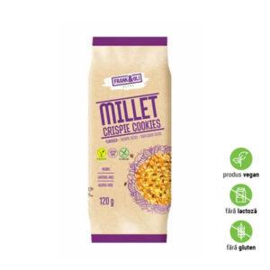 Biscuiți organici cu susan și semințe de floarea soarelui, fără lactoză, gluten
