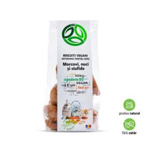 Biscuiți vegani artizanali cu morcovi, nuci și stafide, fără zahăr, pentru copii