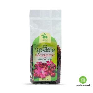 Ceai de fructe cu hibiscus și aromă de cireșe sălbatice