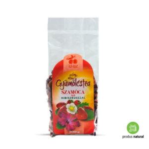 Ceai de fructe cu hibiscus și aromă de fragi