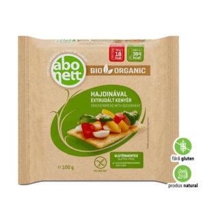Pâine extrudată ecologică cu hrișcă ecologică, fără gluten