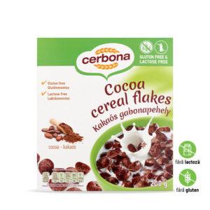 Fulgi din cereale cu cacao, fără gluten, fără lactoză